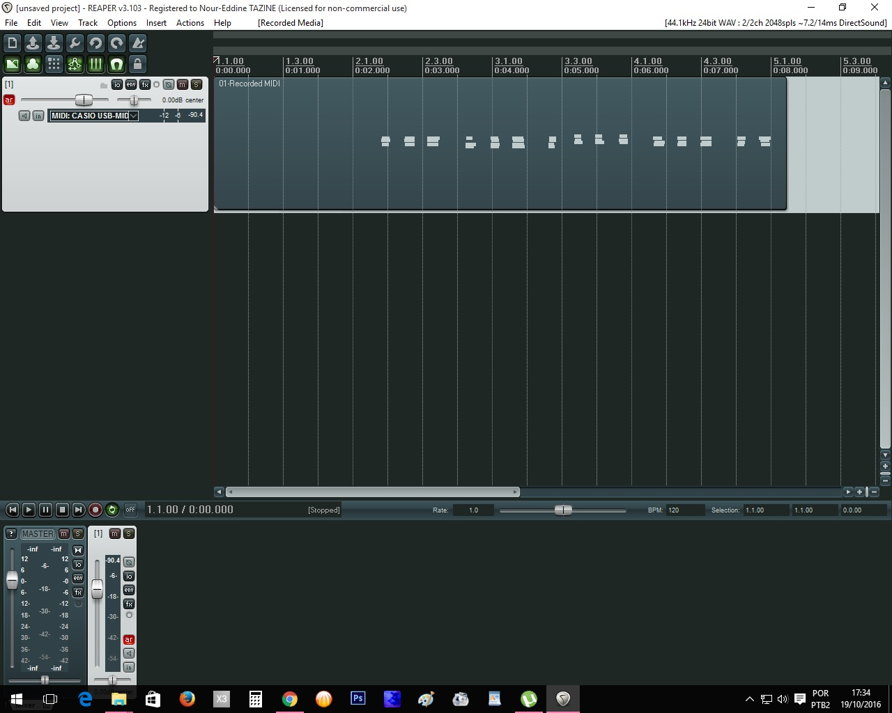 Using MIDI on the CTK 7200 with Reaper - WK-7500/7600 - CTK-7000